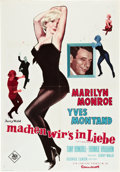 "Movie Posters:Comedy, Let's Make Love (20th Century Fox, 1960). German A1 (23"" X 33"").. ..."