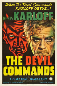 """The Devil Commands (Columbia, 1941). One Sheet (27"""" X 41"""")"""