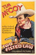 "Movie Posters:Western, Two-Fisted Law (Columbia, 1932). One Sheet (27"" X 41"").. ..."