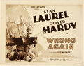 "Movie Posters:Comedy, Wrong Again (MGM, 1929). Title Lobby Card (11"" X 14"").. ..."