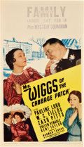 """Movie Posters:Comedy, Mrs. Wiggs of the Cabbage Patch (Paramount, 1934). Midget WindowCard (8"""" X 14"""").. ..."""