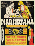 "Movie Posters:Cult Classic, Marihuana (Roadshow Attractions, 1936). One Sheet (26.5"" X 34.5"")....."