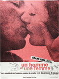 "Movie Posters:Romance, A Man and a Woman (Artistes Associes, 1966). French Grande (47"" X 63"").. ..."