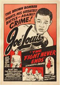"""The Fight Never Ends (Toddy Pictures, R-1948). One Sheet (27"""" X 41"""")"""