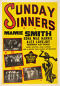 "Movie Posters:Black Films, Sunday Sinners (International Road Shows, 1940). One Sheet (27"" X41"").. ..."