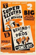 "Movie Posters:Black Films, Super Sleuths/Behind the Pros Combo (Toddy Pictures, 1930s). OneSheet (27"" X 41"").. ..."
