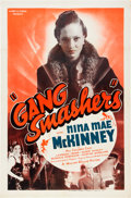 "Movie Posters:Black Films, Gang Smashers (Million Dollar Distributing Co., 1938). One Sheet(27"" X 41"").. ..."