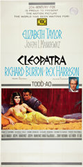 "Movie Posters:Historical Drama, Cleopatra (20th Century Fox, 1963). Three Sheet (41"" X 81"")Roadshow Style.. ..."