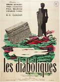 """Movie Posters:Mystery, Les Diaboliques (Cinedis, R-1960). French Grande (47"""" X 63"""").. ..."""