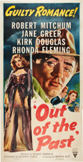 """Movie Posters:Film Noir, Out of the Past (RKO, R-1953). Three Sheet (41"""" X 81"""").. ..."""