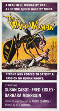 "Movie Posters:Science Fiction, The Wasp Woman (Film Group, 1959). Three Sheet (41"" X 81"").. ..."