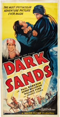 "Movie Posters:Adventure, Dark Sands (Record Pictures, 1938). Three Sheet (41"" X 81"").. ..."