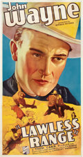 "Movie Posters:Western, Lawless Range (Republic, 1935). Three Sheet (41"" X 81"").. ..."