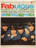 Music Memorabilia:Autographs and Signed Items, The Beatles Band-Signed Copy of Fabulous Magazine (1964)....(Total: 2 Items)