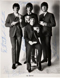 Music Memorabilia:Autographs and Signed Items, The Beatles Signed Photo Autographed for George Klein....