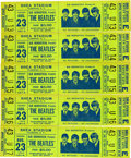Music Memorabilia:Tickets, The Beatles Shea Stadium Concert Tickets Signed by Sid Bernstein.... (Total: 5 )