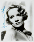 Movie/TV Memorabilia:Autographs and Signed Items, Marlene Dietrich Signed Photo. ...