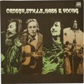 Music Memorabilia:Autographs and Signed Items, Crosby, Stills, Nash & Young Band Signed Album (1971)....
