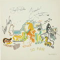 Music Memorabilia:Autographs and Signed Items, Crosby, Stills, Nash & Young Band Signed So Far Album(1974)....