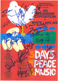 Music Memorabilia:Autographs and Signed Items, Woodstock Festival Signed Poster....