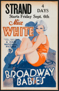 "Movie Posters:Musical, Broadway Babies (First National, 1929). Window Card (14"" X 22"").Musical.. ..."