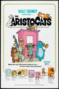 "Movie Posters:Animated, The Aristocats (Buena Vista, 1971). One Sheet (27"" X 41"") and LobbyCards (6) (11"" X 14""). Animated.. ... (Total: 7 Items)"