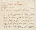 Golf Collectibles:Autographs, 1906 David Brown Handwritten Signed Letter....