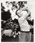 Golf Collectibles:Autographs, 1940's Herman Keiser Signed Photograph....