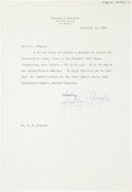 Golf Collectibles:Autographs, 1959 Findlay Douglas Signed Letter....