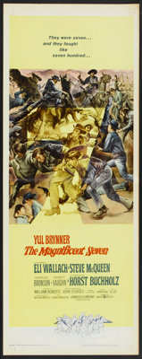 "The Magnificent Seven (United Artists, 1960). Insert (14"" X 36""). Western"