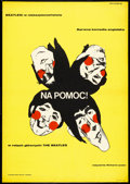 "Movie Posters:Rock and Roll, Help! (United Artists, 1967). Polish Poster (23"" X 33""). Rock andRoll.. ..."