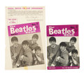 Music Memorabilia:Memorabilia, The Beatles The Beatles Book Monthly #1 and Rare PromotionalFlyer (Beat Monthly, 1963).... (Total: 2 Items)