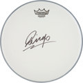 Music Memorabilia:Autographs and Signed Items, Beatles Related - Ringo Starr Autographed Drumhead....