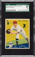 Baseball Cards:Singles (1930-1939), 1934 World Wide Gum Joe Kuhel #52 SGC 96 Mint 9....
