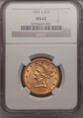 Liberty Eagles: , 1907-S $10 MS62 NGC. NGC Census: (71/46). PCGS Population (41/24).Mintage: 210,500. Numismedia Wsl. Price for problem free...