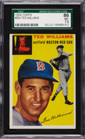 Baseball Cards:Singles (1950-1959), 1954 Topps Ted Williams #250 SGC 86 NM+ 7.5....