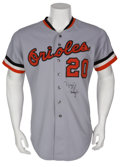 Baseball Collectibles:Uniforms, 1980 Frank Robinson Game Worn Jersey....