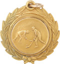 Hockey Collectibles:Others, 1931 Howie Morenz Hart Trophy Gold Pendant....