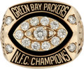 Football Collectibles:Others, 1997 Bernardo Harris Green Bay Packers NFC Championship Player's Ring....