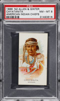 "Non-Sport Cards:Singles (Pre-1950), 1888 N2 ""American Indian Chiefs"" Cayatanita PSA NM-MT 8...."