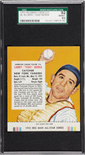 "Baseball Cards:Singles (1950-1959), 1955 Red Man Tobacco Larry ""Yogi"" Berra #16 SGC 92 NM/MT+ 8.5...."