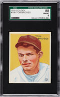 Baseball Cards:Singles (1930-1939), 1933 Goudey Tom Bridges #199 SGC 88 NM/MT 8 - Pop 1 with One Higher....