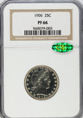 Proof Barber Quarters, 1906 25C PR66 NGC. CAC....