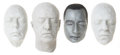 Movie/TV Memorabilia:Original Art, Tim Curry, Michael Caine, David Duchovny, and Anthony Hopkins LifeMasks.... (Total: 3 Items)