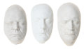Movie/TV Memorabilia:Original Art, Don Rickles, Christopher Lloyd, and David Letterman Life Masks....(Total: 3 Items)