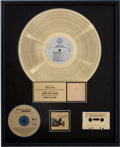 Music Memorabilia:Awards, Fleetwood Mac Behind the Mask RIAA Gold Album Award....