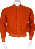 Football Collectibles:Uniforms, 1940's Bobby Layne University of Texas Longhorns Game Worn Jacket....