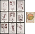 Baseball Cards:Sets, 1913 WG6 Tom Barker Complete Set (52) With Fenway Box & StampedF. Baker....