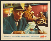 "The Wrong Man (Warner Brothers, 1957). Lobby Card Set of 8 (11"" X 14""). Hitchcock. ... (Total: 8 Items)"