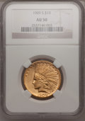 Indian Eagles: , 1909-S $10 AU50 NGC. NGC Census: (15/445). PCGS Population(34/432). Mintage: 292,350. Numismedia Wsl. Price for problem fr...